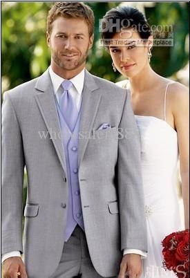 Light Grey Suit Lavender Vest And Tie Groom Tuxedos Notch Lapel Best Man Groomsmen Men Wedding Suits Bridegroom Jacket+Pants+Tie+Vest H978 from Wholesalers888,$79.59 | DHgate.com