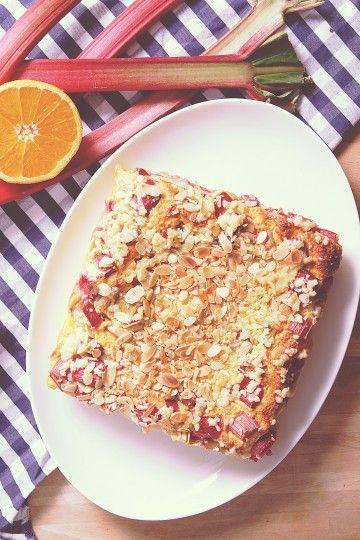 #ciasto #drozdzowe z rabarbarem. #delektujemy #pie #rhubarb #summercake