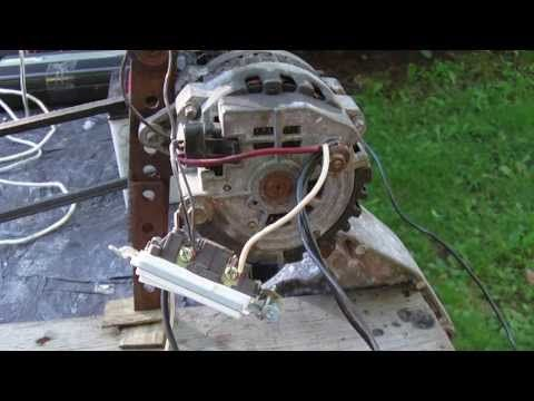 Alternator DEMO Wiring, connection to Battery, Capacitors, Inverter, Modification - YouTube