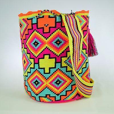 Аутентичные WAYUU больших отдельных ниток Маленькая сумка 100% колумбийский, богемный бродяга отлично...