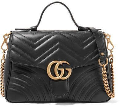 8003a6772 Gucci - Gg Marmont Small Quilted Leather Shoulder Bag - Black #gucci # ShopStyle #MyShopStyle click link for more information