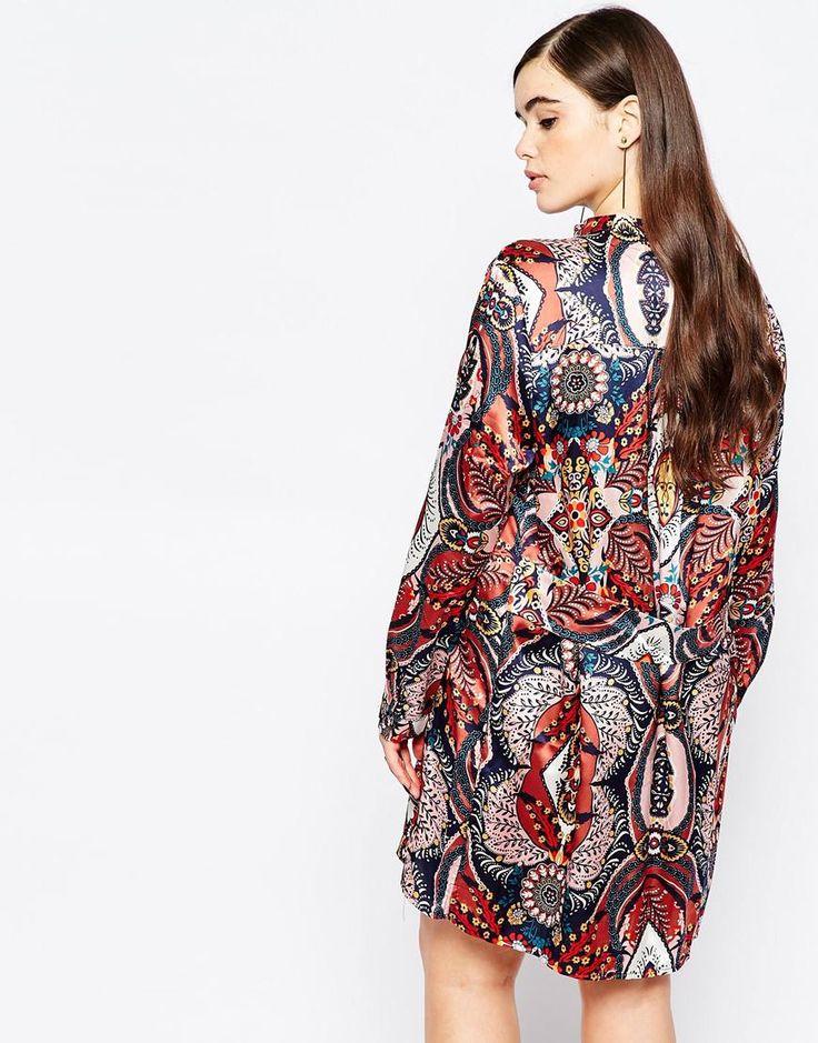 Image 2 ofMissguided Plus Printed Shirt Dress