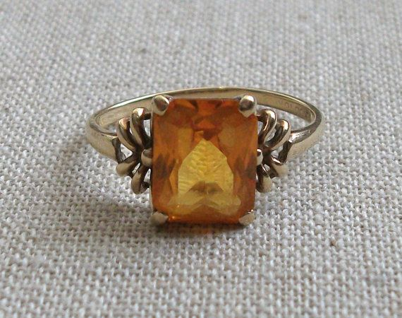 Estate Topaz and Gold Ring PRICE REDUCED