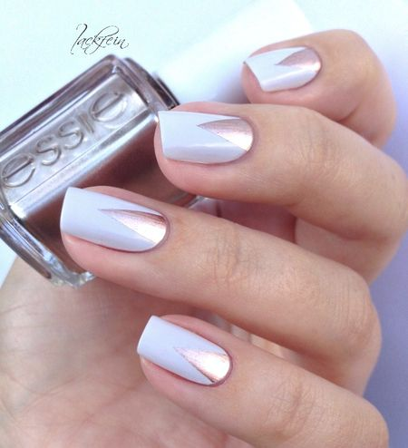 Pretty Neutral Mani #lackfein #essie #polish #nailart