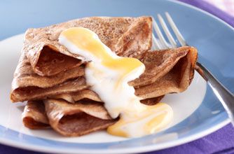 And they say you can't have Creme Eggs for brekkie!!!  Cadbury Creme Egg chocolate pancakes recipe - goodtoknow