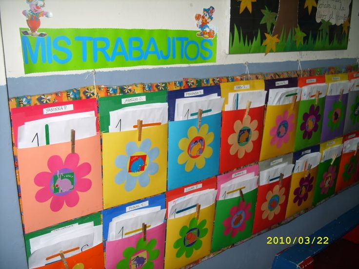 Idea para guardar los trabajos de los estudiantes en el aula sin ocupar mucho espacio