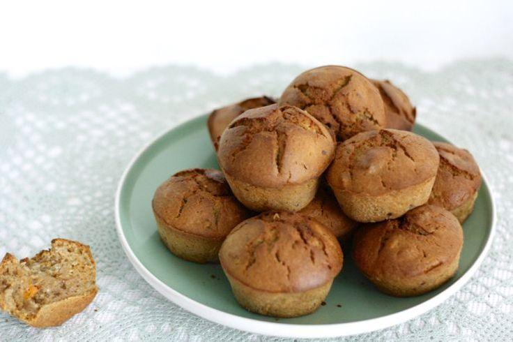 Healthy baking: Zoete aardappelmuffins, weer eens wat anders! Lekker als ontbijt of tussendoortje. #healthy #baking #chickslovefood