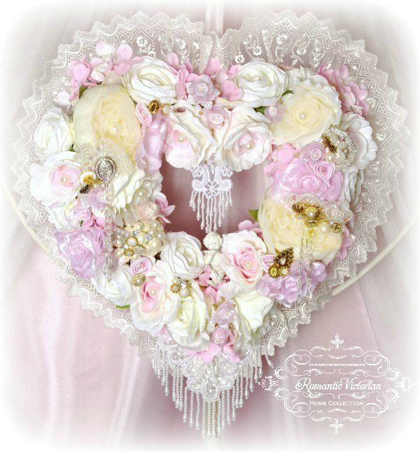 17 Best Ideas About Shabby Chic Wreath On Pinterest