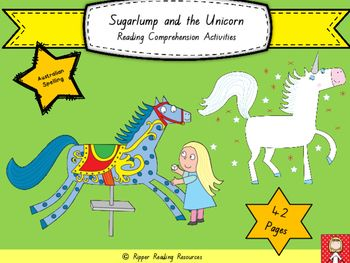 """A new 42 page resource for """"Sugarlump and the Unicorn"""" by Julia Donaldson!!!  This is a terrific companion/partner picture book to use with """"Thelma the Unicorn"""" by Aaron Blabey.   Using the texts together  supports students to make text-to-connections.  Both authors are absolutely wonderful!!!"""