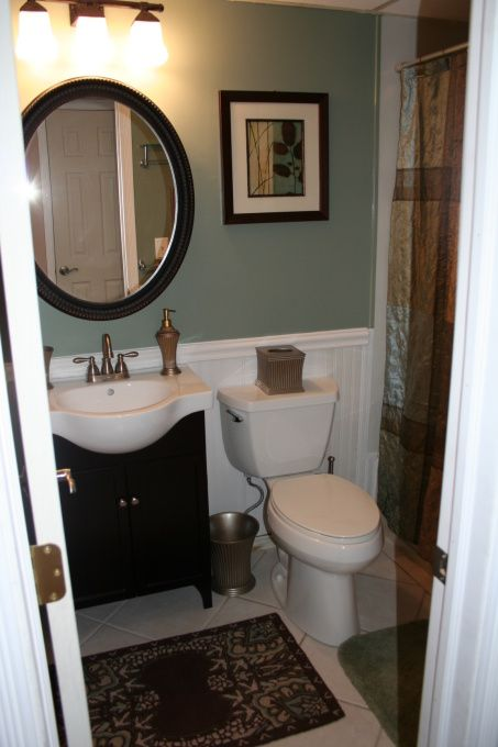 17 best images about bathroom remodel on pinterest small for Cheap bathroom decorating ideas for small bathrooms