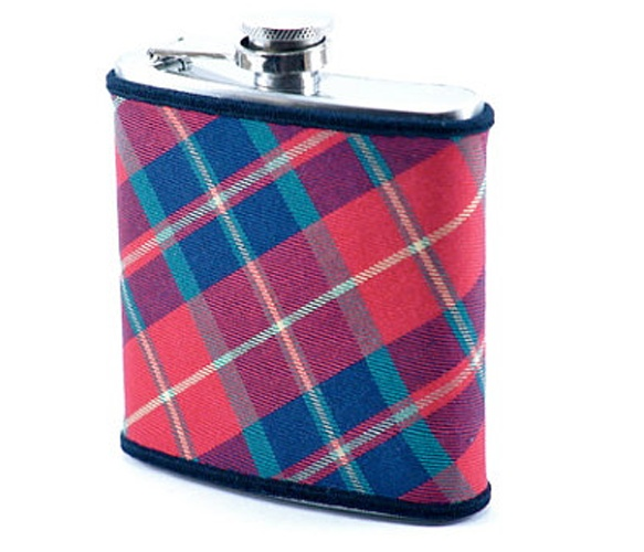 Red & Green Plaid Flask.