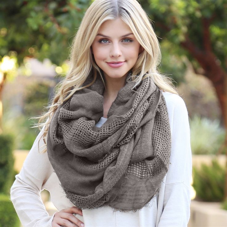 Soft Infinity Scarf Fashion, How to wear, Casual