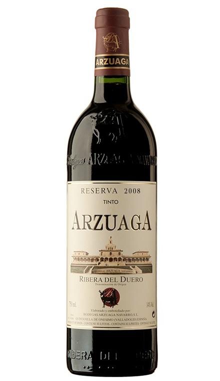VINO TINTO ARZUAGA RESERVA 2008 Vinos Tintos - D.O. Ribera del Duero  25.50€