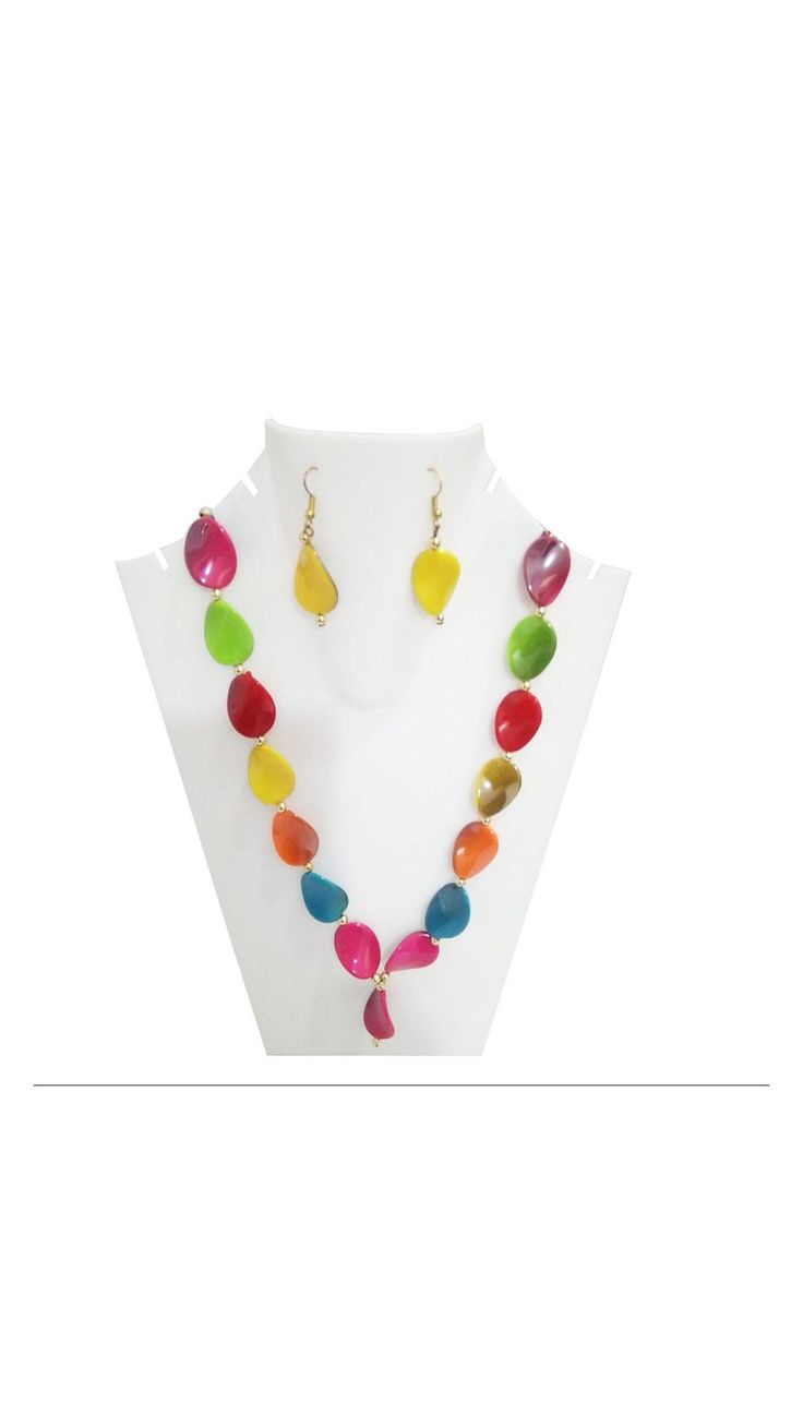 Traditional Multicolor Stone Necklace Set