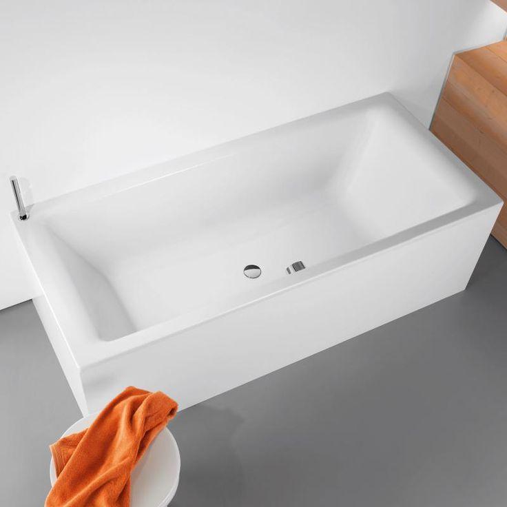 Kaldewei Puro Duo Rechteck-Badewanne weiß 1100 Stahlemmaille
