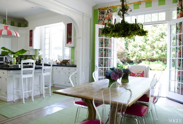 Lily Maddock's Southampton home, decorated by Celerie Kemble.