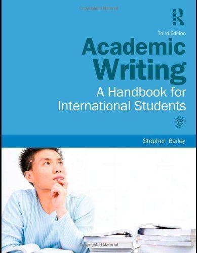 Academic writing help bailey 3rd edition