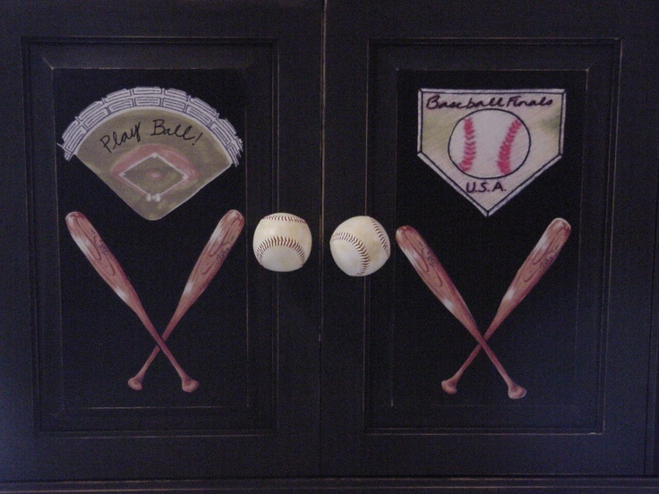 A Baseball Armoire Perfect For The Loving Chiefs Fan In Your Life
