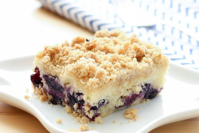 Blueberry Coffee Cake - gluten free and traditional recipes by barefeetinthekitchen.com