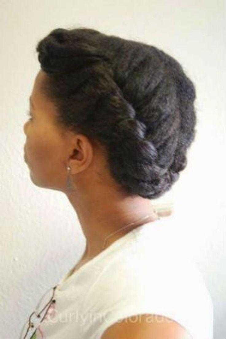 Coiffure pour cheveux crépus avec couronne tressée – cheveux en ruine 2018 …   – cheveux crépus | tresses africaines