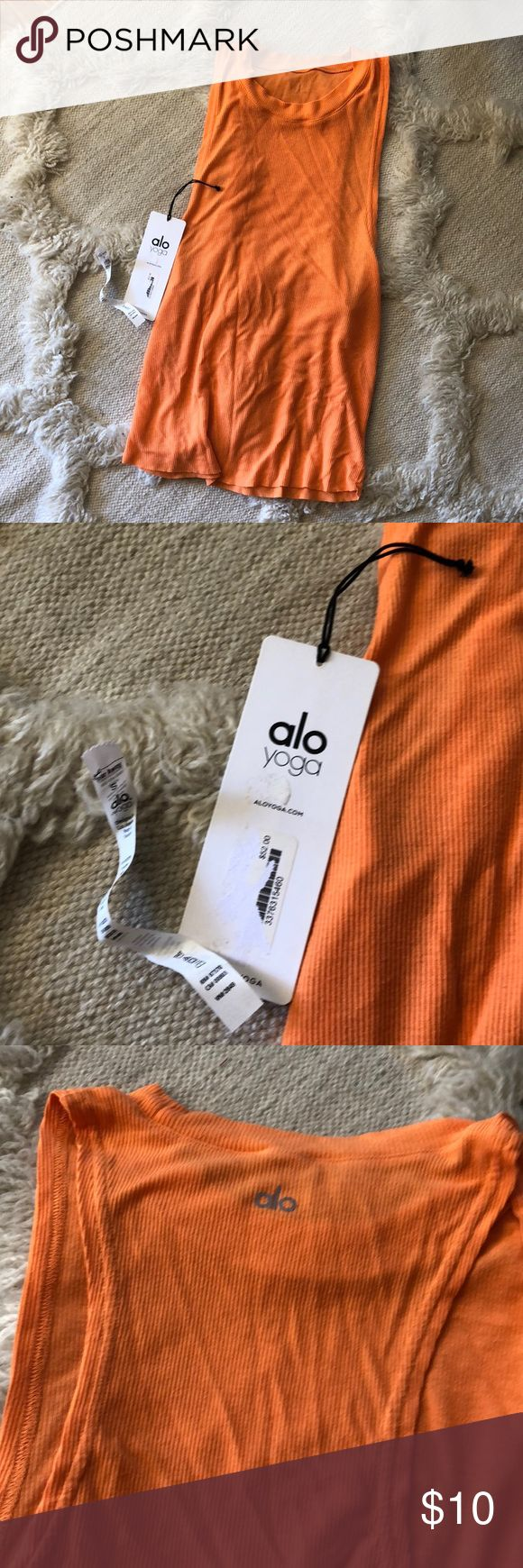 ALO Yoga Heat Wave Tank Orange Size S Worn a few times only! ALO Yoga Tops