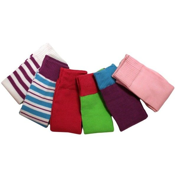 Vibrant Color Multi Pattern Assorted 6 Pack Knee-High Socks ($15) ❤ liked on Polyvore featuring intimates, hosiery, socks, knee high, knee socks, striped knee socks, stripe socks, neon knee high socks and knee length socks