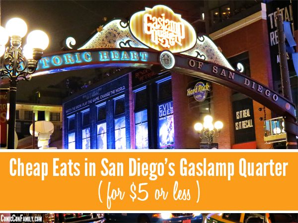 Whether you're in San Diego for Comic-Con or visiting the Gaslamp Quarter on vacation, dining out can get expensive! This regularly updated post shares lots of restaurants where you could eat for about $5 or less.