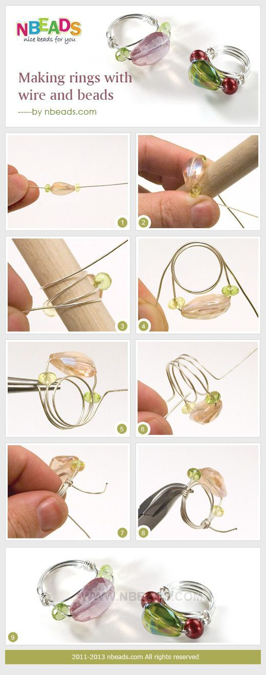 making rings with wire and beads