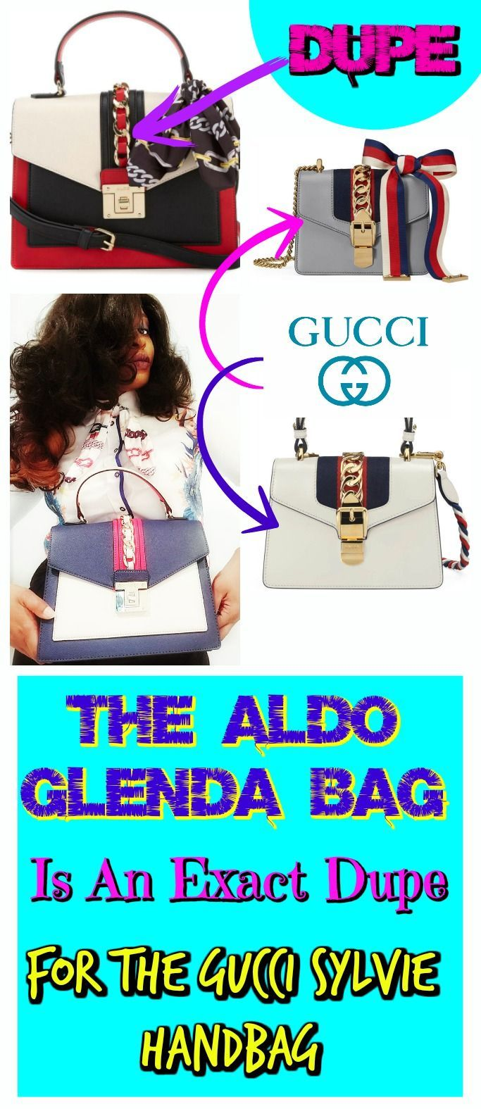 44259b1e6d This article is a review of the Aldo Glenda Bag and I will tell you why it  is a perfect Gucci Handbag Dupe. The Aldo Glenda satchel needs to be put on  ...