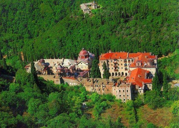 Ιερά Μονή Ζωγράφου από ψηλά - The Holy Monastery of Zographou from high above