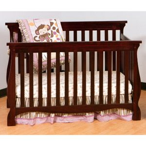 Storkcraft - Carrara Fixed-Side 4-in-1 Convertible Crib, Cherry - Walmart Site