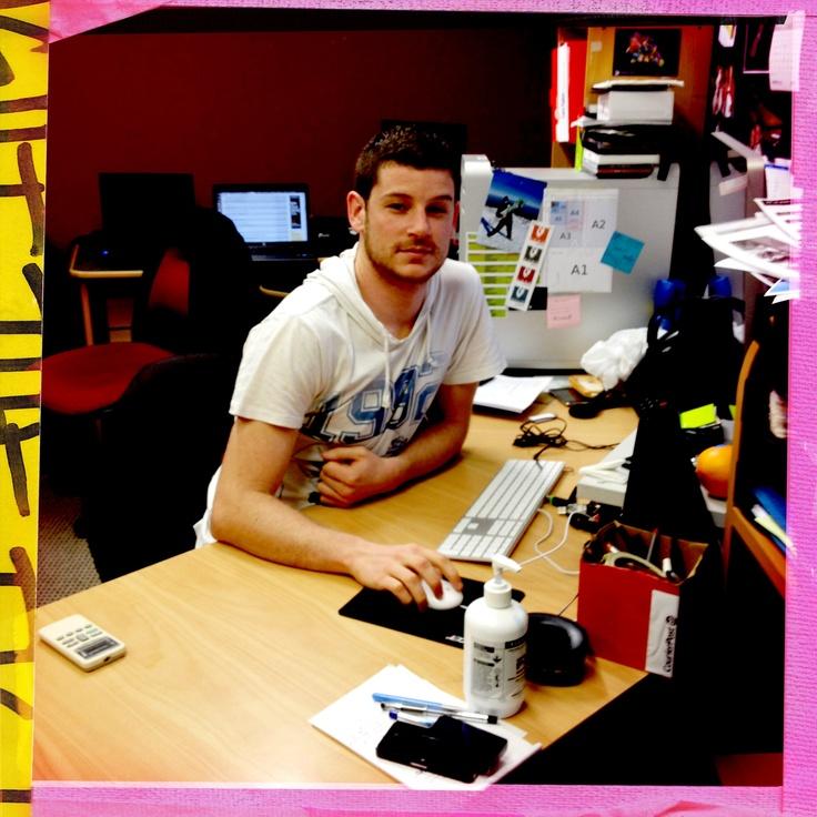 Shaun, graphic design graduate. Working for Te Wananga o Aotearoa.