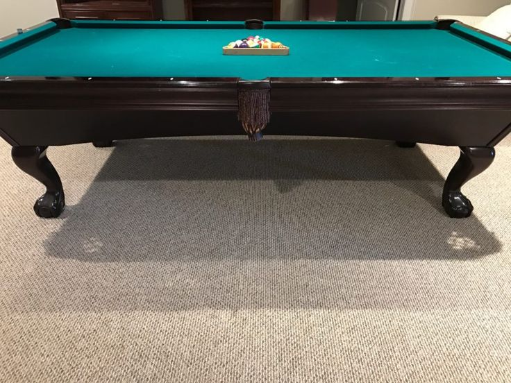 9ft X 5 Ft Brunswick Pool Table With Brunswick Rack And Many Cue Sticks - For Sale at Norwalk Moving Sale by Watercress Springs Estate Sales, March 31, 2017 to April 2, 2017, 10am to 4pm, 2 Canfield Crossing, Norwalk, CT.