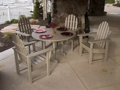 """Polywood Classic Adirondack Recycled Plastic Patio Dining Set by Polywood. $1848.52. Polywood This classic adirondack recycled plastic patio dining set includes round 36"""" dining table and features option of selecting adirondack dining chair to compliment the set.This classic design is associated with outdoor furniture all around the world. We have taken this design a step further by creating our furniture to be easy maintenance and functional for many years. The Adirondack..."""