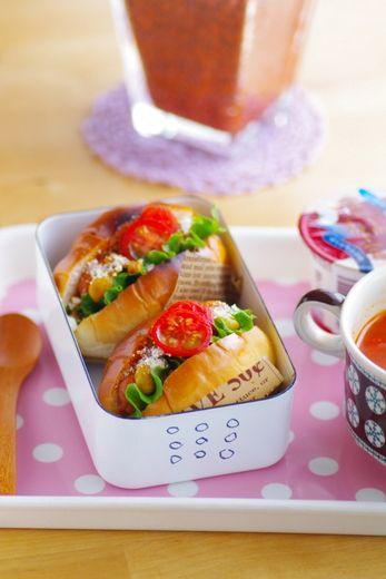 ドライカレーホットドッグのお弁当 - ◆きょうのおべんとう*キャラ弁