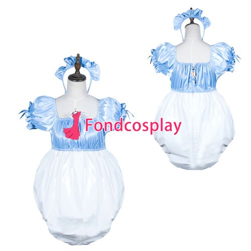 Sissy maid satin/pvc Romper lockable Uniform cosplay costume Tailor-made[G3800] #Affiliate