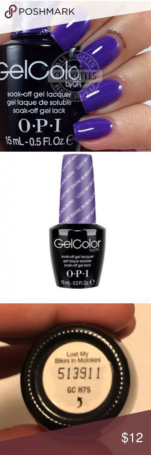 OPI GEL POLISH OPI gel polish.  Lost My Bikini In Molokini . UV/LED LIGHT REQUIRED. Full bottle, maybe used once... I have a duplicate so I'm selling this one OPI Other