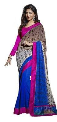 Smart Symbolic Patterned Chiffon Saree Sarees on Shimply.com