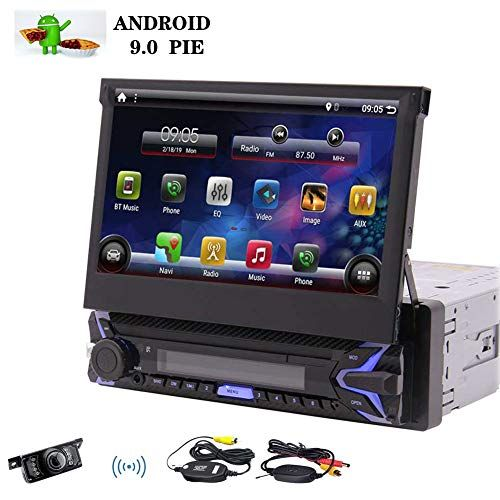 """Single Din Android 9.0 Pie Car Stereo 7"""" HD Capacitive"""