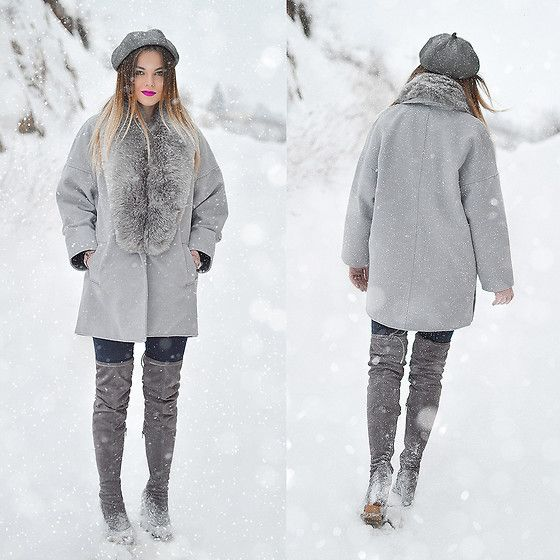Get this look: http://lb.nu/look/8569807  More looks by Tamara Bellis: http://lb.nu/tamarabellis  Items in this look:  Amiclubwear Over The Knee Boots, Lulugal Furcoat, Yesstyle Beret, H&M Jeans, H&M Gloves   #casual #chic #street