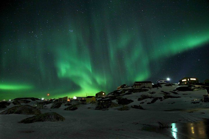 Foto: Steen Olsen. Se også: http://rejseblokken.dk/smukt-nordlys-over-sisimiut-i-gronland/