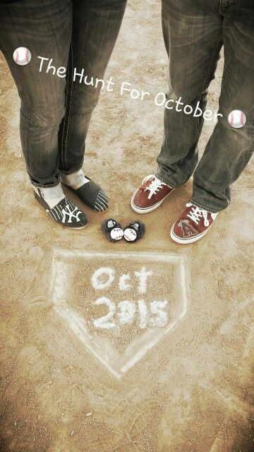 Baseball baby announcement