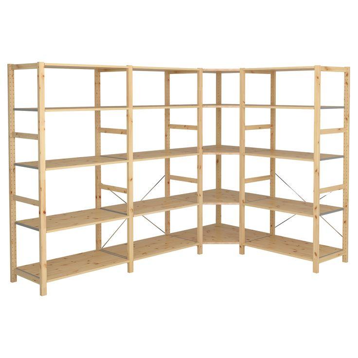 ivar 4 sections corner ikea 400 product dimensions. Black Bedroom Furniture Sets. Home Design Ideas