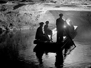 The River Styx, Mammoth Cave, Kentucky. Early Boat Tour.