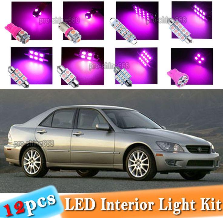 12-pc Pink LED Car Interior Light Bulbs Package Kit Fit 2001-2005 Lexus IS300 | eBay Motors, Parts & Accessories, Car & Truck Parts | eBay!