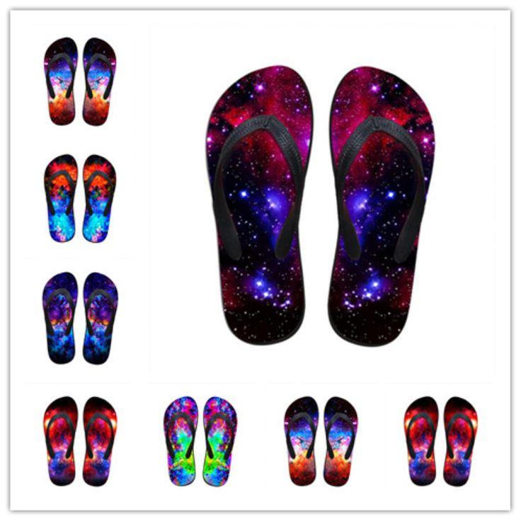 Стильный летний галактики вселенной звездных вьетнамки для дам, Женщины сандалии 2015 пляжные тапочки галактика печать sandalias mujerкупить в магазине IDEAL DESIGNS FOR YOU CO.,LTDнаAliExpress