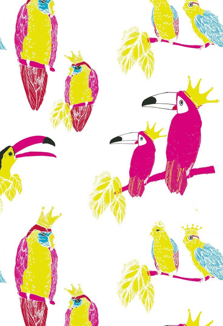 Papagayo print by Cristina Bartl