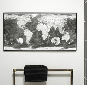 20 best etsy uk images on pinterest world maps framed maps and maps monochrome world map by the future mapping company not on the high street gumiabroncs Gallery