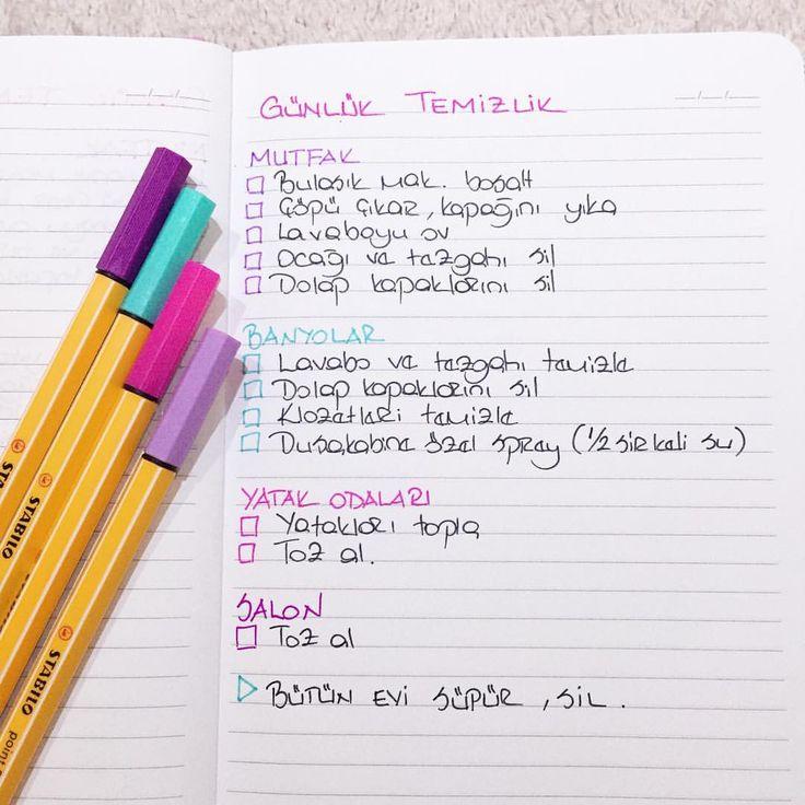 Uyku tutmazsa ben de günlük temizlik rutinim icin bir checklist/kontrol listes…