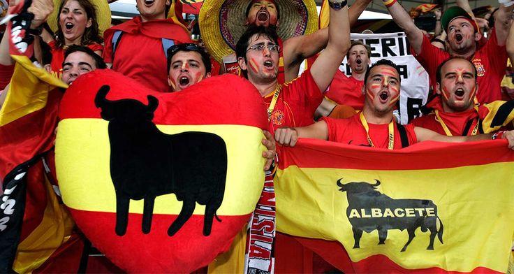 """""""Afición española en la final del Mundial de fútbol de 2006"""""""
